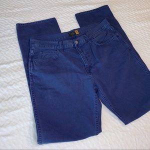 J Crew Slim Straight Blue Jeans 34 34 Denim Men's